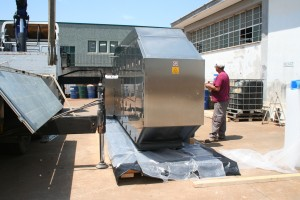 Preparazione all'imballo con sacco in accoppiato barriera