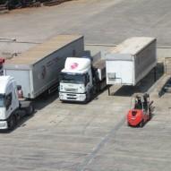 Automezzi in parcheggio