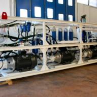Imballo in termoretrabile per pompe Bosch in container da 40′ Open Top