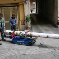 Movimentazione ed imballo per cannoni antichi restaurati