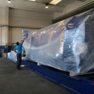 Imballo con film in termoretraibile di pressa da 35 tonnellate
